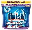 Finish Pack de 45 Lave Vaisselles Tablettes Multifonctions Quantum