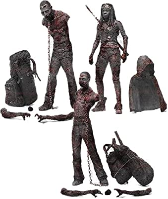 Mcfarlane Toys The Walking Dead Tv Series 3 Bloody Black And White Michonne And Pet Zombie Action Figure 3-pack from McFarlane Toys