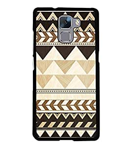 Brown Pattern 2D Hard Polycarbonate Designer Back Case Cover for Huawei Honor 7 :: Huawei Honor 7 Enhanced Edition :: Huawei Honor 7 Dual SIM