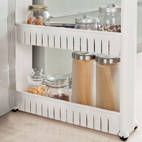 Sobuy scaffale carrellino salvaspazio carrellino per cucina carrellino per il bagno - Scaffale cucina ...