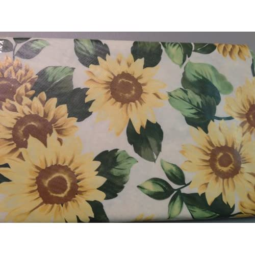 "Amazon.com - Sunflower Vinyl Tablecloth 52""x52"" Square -"