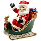 Cosmos Santa On Sleigh Salt And Pepper Set, 2.8-Inch Tall