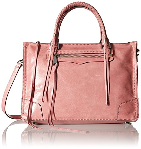 Rebecca Minkoff Regan Satchel Tote Shoulder Bag, Rosa, One Size