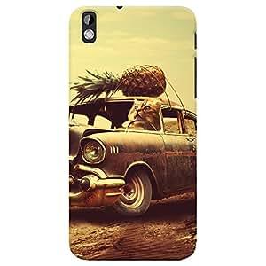 ColourCrust HTC Desire 816 / 816G Dual Sim Mobile Phone Back Cover With Vintage Car - Durable Matte Finish Hard Plastic Slim Case