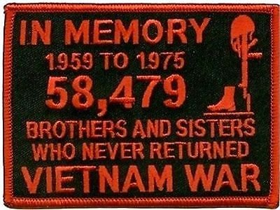 In Memory of The 58479 Vietnam RED Veteran Motorcycle MC Biker Patch PAT-0951