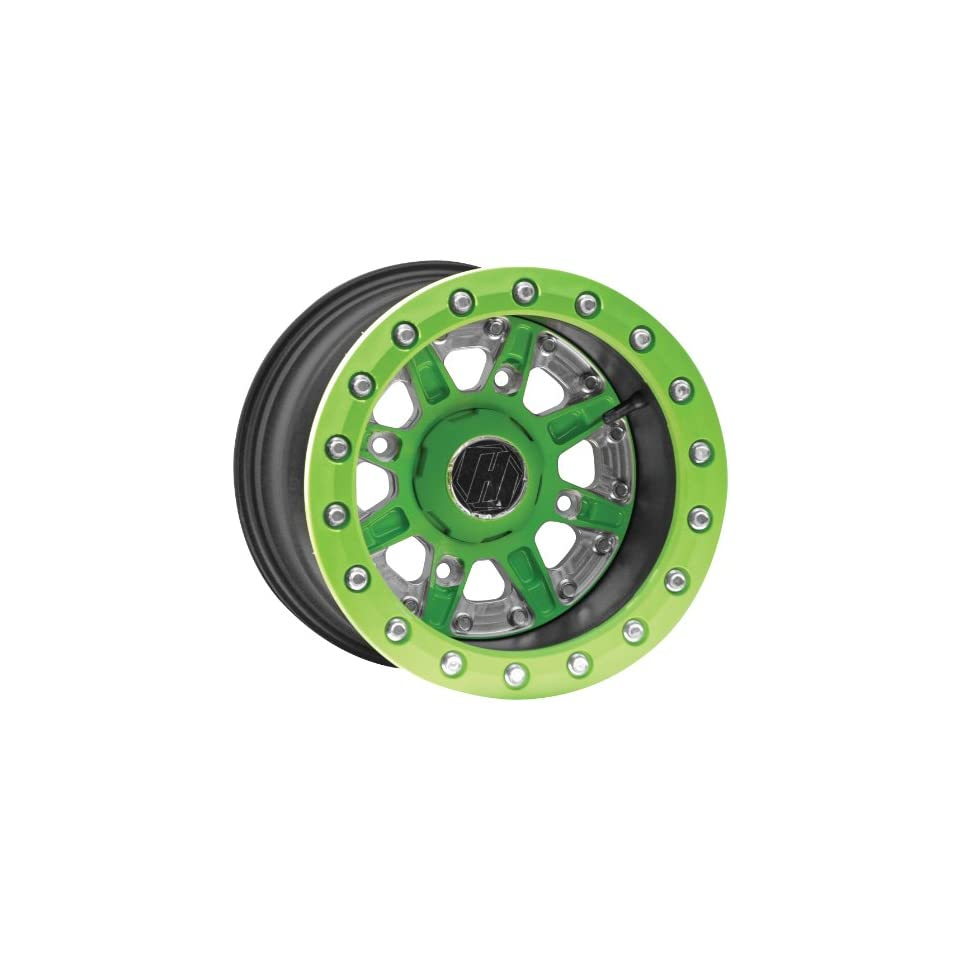 Hiper Wheel Sidewinder 2 Wheels   12x7   5+2 Offset   4/136,4/137   Green , Position Front/Rear, Wheel Rim Size 12x7, Rim Offset 5+2, Bolt Pattern 4/136,4/137, Color Green 1270 KCAGN 52 SBL GN