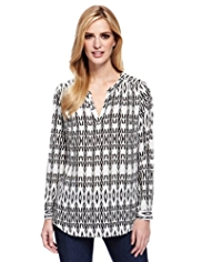 M&S Collection Aztec Print Blouse