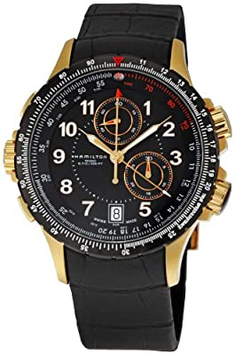Hamilton Men's H77642333 Khaki ETO Black Chronograph Dial Watch