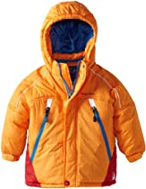 Rugged Bear Baby-boys Infant Colorblock Ski Jacket, Orange, 24 Months