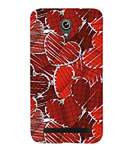 Hearts 3D Hard Polycarbonate Designer Back Case Cover for Asus Zenfone Go ZC500TG (5 Inches)