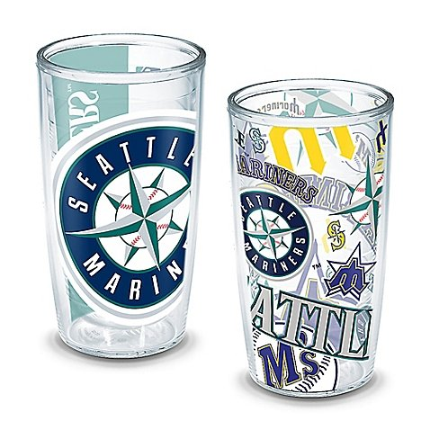 Tervis MLB Seattle Mariners All-Over Wrap 16 oz. Tumblers (Set of 2) (Red Sox Tervis Tumbler With Lid compare prices)
