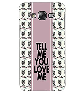 PrintDhaba Quote D-2782 Back Case Cover for SAMSUNG GALAXY E7 (Multi-Coloured)