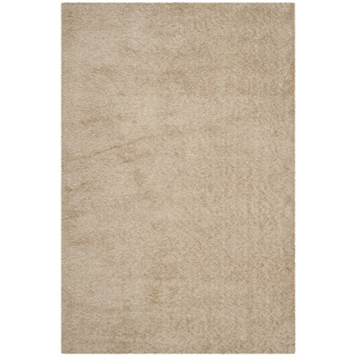 Safavieh Thom Filicia Collection TMF256C Hand-Knotted Champagne Wool Area Rug, 6 feet by 9 feet (6' x 9')