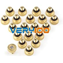 Generic Size D : New 20pcs Brass Misting Nozzles For Cooling System With Stainless Steel Orifice 0.15/0.2/0.3/...