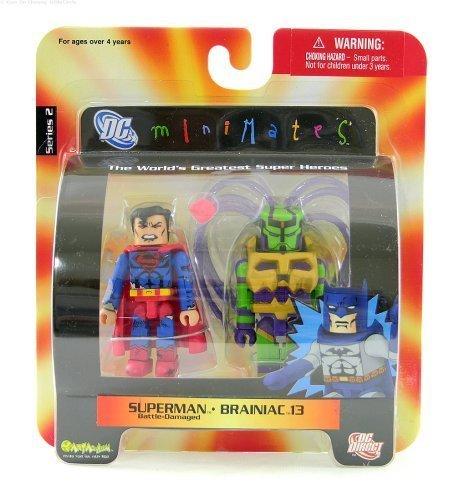 Superman (Battle-Damaged) and Brainiac 13 - DC Mini Mates Series 2 (Dc Direct Action Figure Dr Fate compare prices)