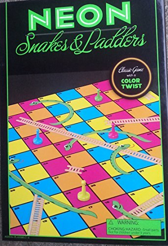 Neon Snakes & Ladders - Classic Chutes & Ladders with a Twist of Color - 1