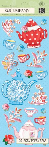 K&Company Embossed Stickers, Bloomscape (Teapot Stickers compare prices)