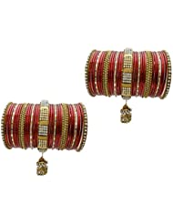 Red Bridal Chura Wedding Bangles Chuda By My Design(size-2.8)