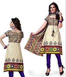 Kesar Printted Cotton (Unstitched) dress material (SA1008)
