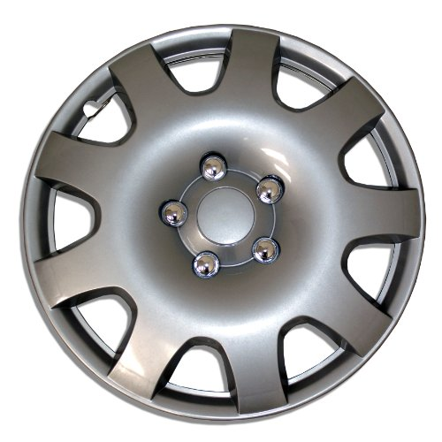 TuningPros WSC-502S16 Hubcaps Wheel Skin Cover 16-Inches Silver Set of 4 (2014 Nissan Rogue Hubcap compare prices)