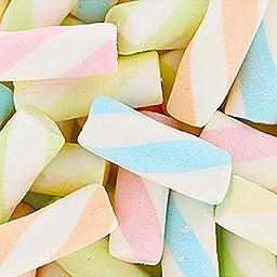 Assorted Puffy Poles Jumbo Marshmallow Twists 2.2LB Bag