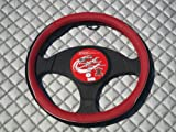 HONDA CIVIC / INSIGHT Steering Wheel Cover SWP1 - Red leatherette with Black trim 14.5 inch medium