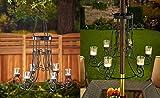 Elegant 2 in 1 Garden Chandelier Decorative Hang From Tree Branch Patio Umbrella Pole Decoration