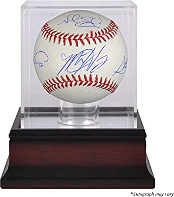 Matt Harvey, Steven Matz, Noah Syndergaard, Jacob deGrom New York Mets Autographed Baseball - Limited Edition of 215 and Mahogany Baseball Display Case - Fanatics Authentic Certified