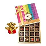 Chocholik Belgium Chocolates - Decadent Truffle And Chocolate Collection Gift Box With Small Ganesha Idol - Diwali...