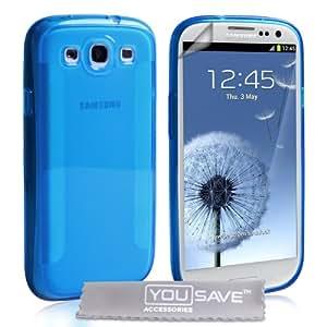 Samsung Galaxy S3 Tasche Silikon Gel Klinge Hülle - Blau