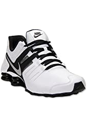 Nike men's Shox Current Running Shoes athletic sneakers leather black/white