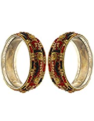 Anuradha Art Red & Green Colour Stylish Classy Bangles Set For Women