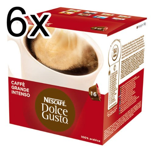 Nescafé Dolce Gusto Caffè Grande Intenso, Pack of 6, 6 x 16 Capsules (96 Servings) from Nestlé