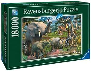"Ravensburger 17823 - David Penfound ""At the waterhole"" - 18000 Teile Puzzle (276x192 cm)"