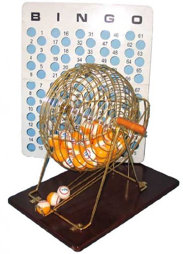 Hayes Specialties Brass Bingo Cage With Table Tennis Ball #15052