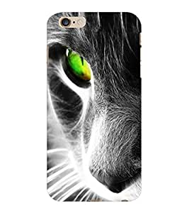 ColourCraft Scary Cat Look Design Back Case Cover for APPLE IPHONE 6S PLUS