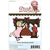 Little Darlings Unmounted Rubber Stamp-Every Stocking Counts