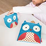 Skip Hop Zoo Reusable Sandwich and Snack Bag Set, Blue Owl