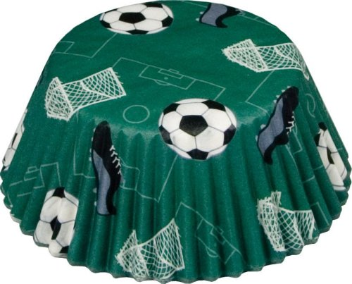 Fox Run Soccer Theme Standard Bake Cups, 50 Cups (Soccer Baking Cups compare prices)