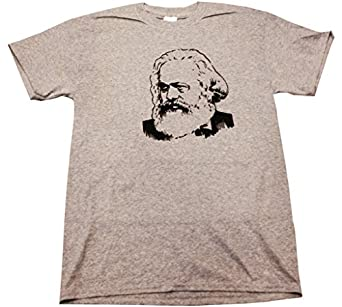 KARL MARX - Heather Grey T-shirt - size Small
