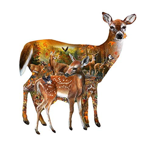 Forest Majesty Shaped 1000 Piece Jigsaw Puzzle by Sunsout Inc.