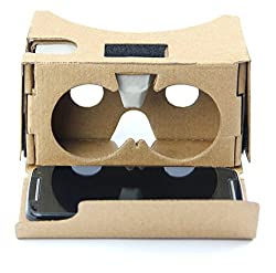 DOMO VRC625 nHance Google Cardboard v2 Assembled with Button Google Cardboard Universal Virtual Reality 3D and Video VR Headset for Smart Phones upto 4
