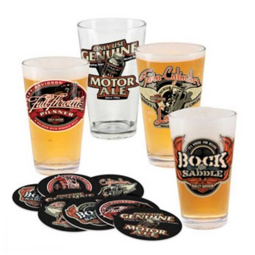 Harley-Davidson Roadhouse Brew Pub Pint Glass Set HDL-18742