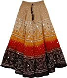 "TLB - Spicy Hot Tie Dye Skirt - Length: about 34""; Waist: 24""-34"""
