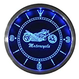 Amazon.co.jpLEDネオンクロック 壁掛け時計 nc0355-b Motorcycle Bike Sales Services Neon Sign LED Wall Clock