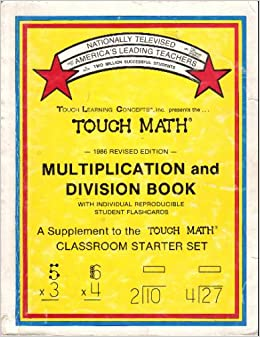 multiplication division book touch math a supplement to the touch math classroom starter set. Black Bedroom Furniture Sets. Home Design Ideas