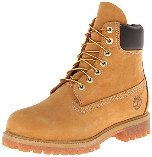 Timberland 6 in Premium Boot, Stivaletti Uomo, Giallo (Wheat Nubuck), 41.5 EU
