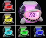 Light Cube Digital LED Colour Changing Alarm Clock with Natural Sounds