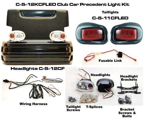 Best Turf West-Sp Club Car Precedent Headlight, Led Taillight Kit - Cf