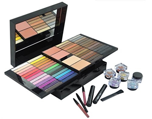 Details for Pure Vie® Professional 85 Colors Eyeshadow Concealer Blush Lip Gloss Palette Makeup Contouring Kit by Pure Vie